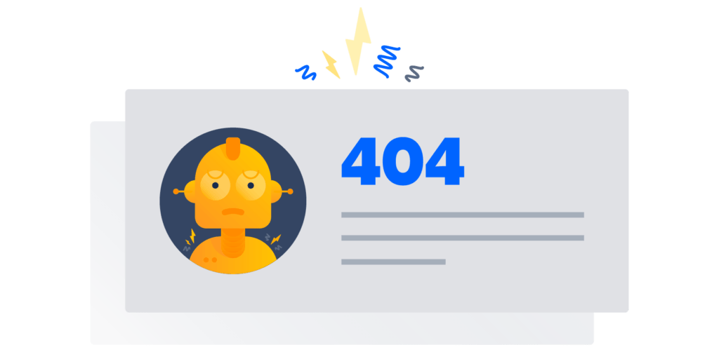 404 page picture with robot