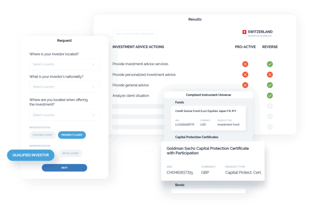 Image of the cross-border compliance app