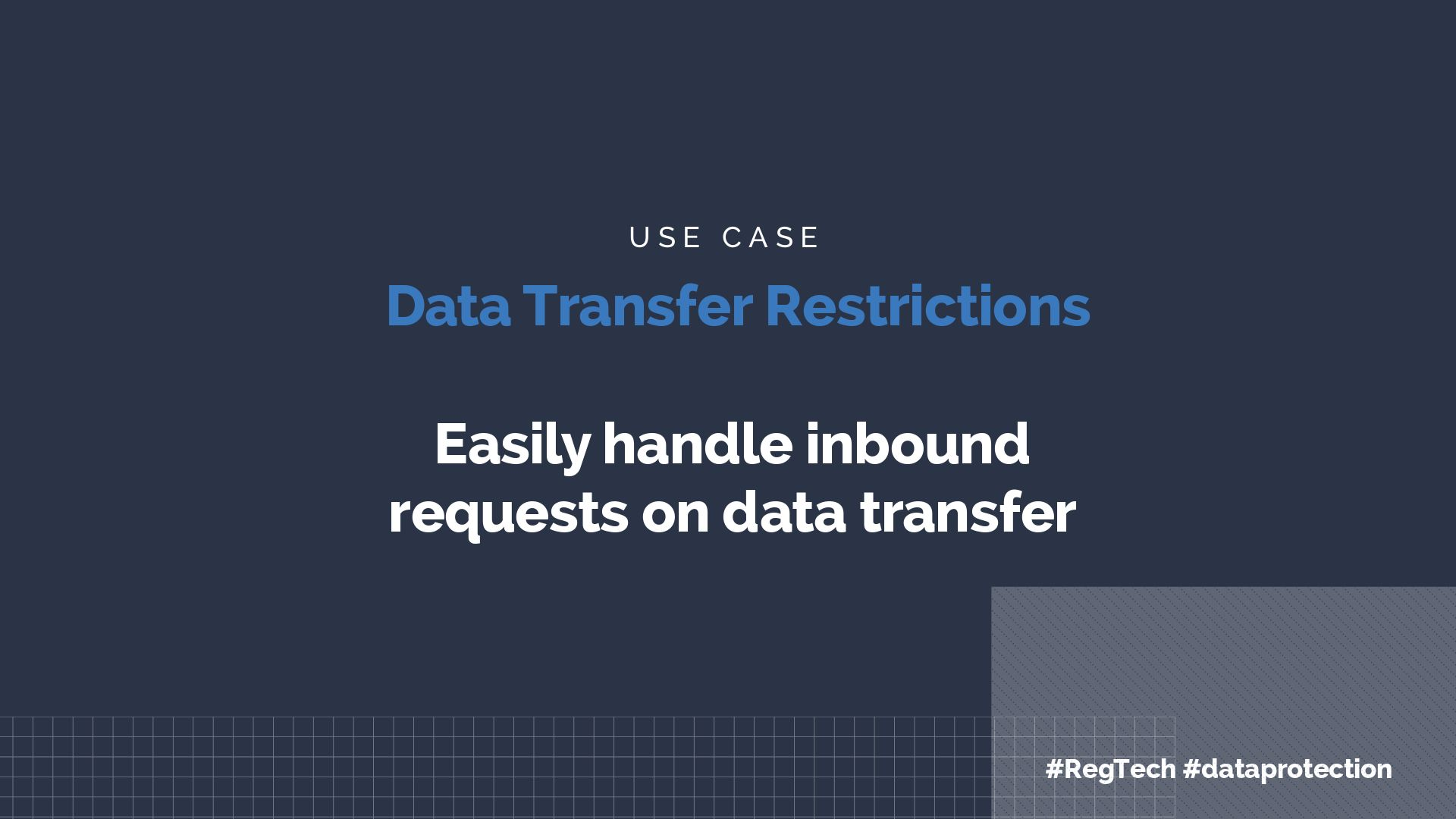 Apiax use case data transfer restrictions