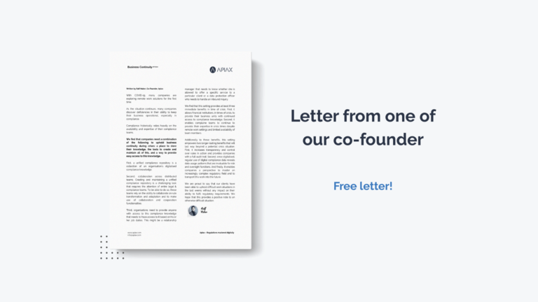 Letter from one of Apiax co-founders