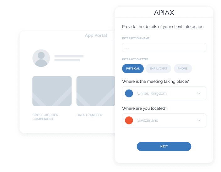 Image of Apiax app portal with no integration