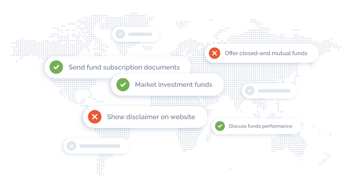 map highlighting solutions for fund distribution