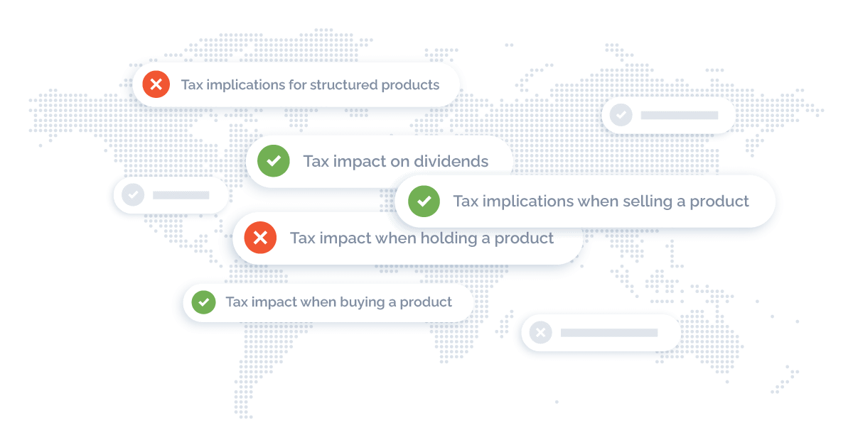 map with highlighted solutions for tax-efficient investing