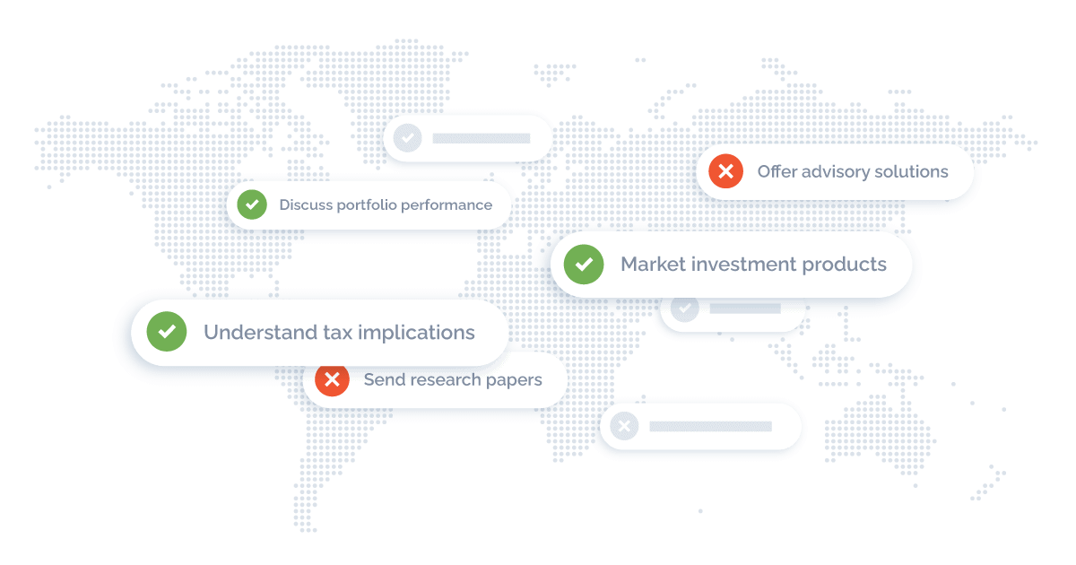 map highlighting solutions for wealth management
